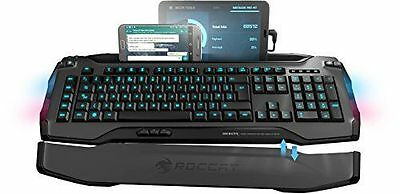 Roccat Skeltr Grey, Smart Communication RGB Clavier Gaming FR-Layout Noir NEUF