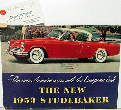 1953 Studebaker Champion Commander V8 Landcruiser Sales Brochure Maloney Motors
