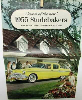 1955 Studebaker Champion Commander V8 Landcruiser Color Sales Brochure Original