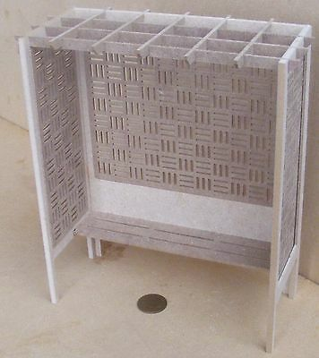 1:12 Scale Flat Pack MDF Wooden Arbour With A Seat Dolls House Garden Accessory