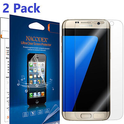 [2-Pack] HD Full Cover Screen Protector Shield Film For Samsung Galaxy S7 Edge