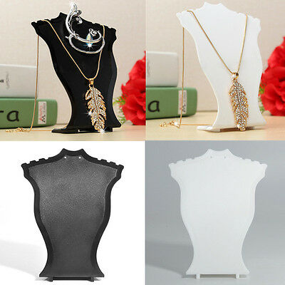 Plastic Necklace Pendant Earring Jewelry Bust Mini Display Holder Stand Showcase