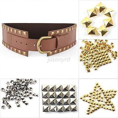 Vogue 100pcs DIY Pyramid Rivet Metal Studs Spots Spikes Punk Leathercraft 6-12mm