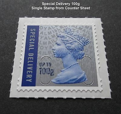 NEW 2016 SPECIAL DELIVERY 100g M16L MACHIN SINGLE STAMP from Counter Sheet