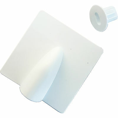 White Brick Buster & 8mm Bush Cable Hole Cover Kit - Outdoor Twin/Shotgun Tidy
