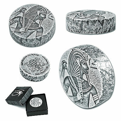 Republic of Chad King Tut 5 oz 999 Silber Silver Feinsilber 2016 3000 Francs