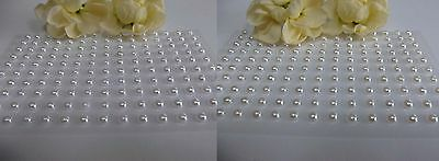2 x 150 Ivory & White 4mm self adhesive pearls perfect for wedding invitations