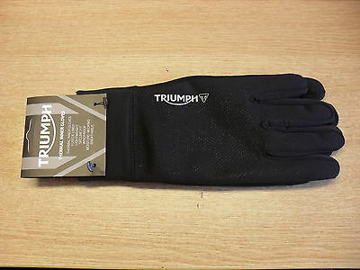Genuine Triumph Thermal Inner Gloves In Black Small Medium Large & X-Large