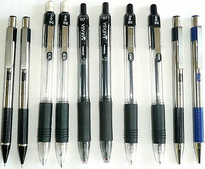 Set of 6 ZEBRA Retractable Pens and 4 ZEBRA Mechanical Pencils >NEW<