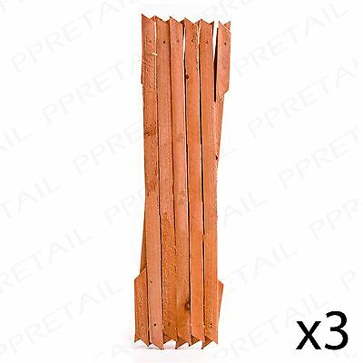 3 x LARGE EXPANDING STAINED WOODEN TRELLIS Garden Climber Plant Support Fence