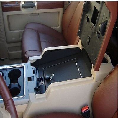 Console Vault Floor Console Gun Safe for 11-16 Ford F250/F350 w/ 3-Digit Combo