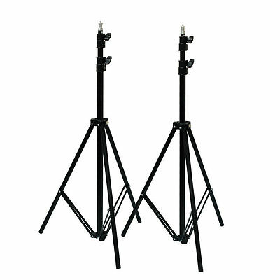 New 2x 7.1FT/218CM Tripod Light Stands For Studio Kits,Lights,Softboxes
