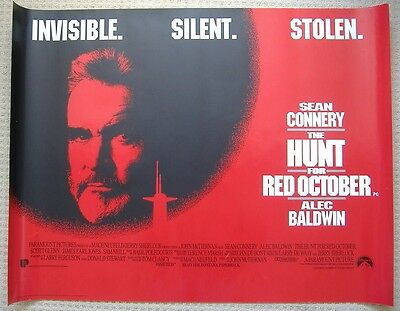 The Hunt for Red October (1990) ORIGINAL D/S UK QUAD POSTER, Sean Connery