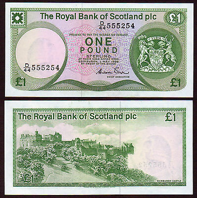 OLD STYLE 1986  £1 ROYAL BANK...the grade is AU