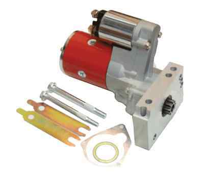 SBC BBC CHEVY HIGH TORQUE MINI STARTER 3HP RED JM-7001R With Shims