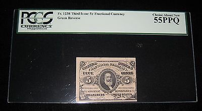 Fractional Currency - Third Issue / 5 cents / KL-3256 / PCGS 55 PPQ (FC-140)