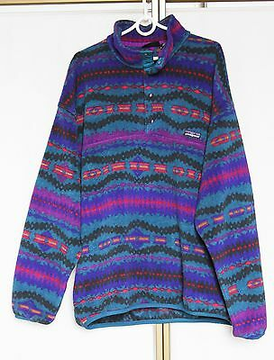 Vintage 80 Patagonia Synchilla Snap-T Aztec Fleece Jumper Made in USA XL