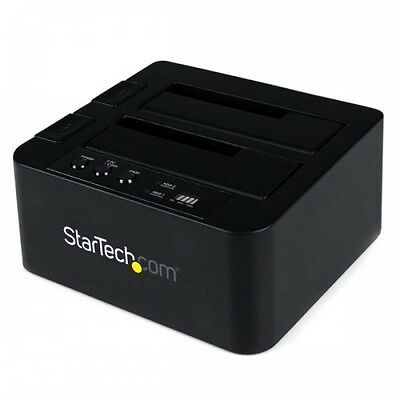 NEW! Startech.Com Sata Hard Drive Hdd Duplicator Dock - Esata Usb SATDOCK22RE