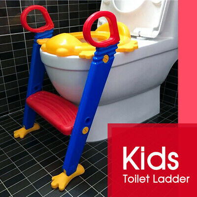 Baby Kids Trainer Toilet Ladder Toddler Step Seat Nonslip