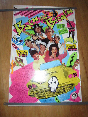 Back to the Beach poster Stevie Ray Vaughan Annette Funicello Pee Wee Herman