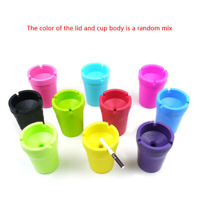 Mini Portable Auto Car Travel Smoke Cigarette Ashtray Holder Cup Stand Buckets