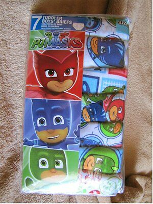 PJ MASKS - 7pc Boys Underwear Briefs Set Toddler sz 2T-3T