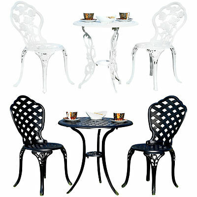 tisch 2 st hle gusseisen antik dunkel gr n bistro set garten sitzgarnitur eur 107 99. Black Bedroom Furniture Sets. Home Design Ideas