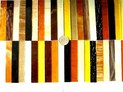 40 Mixed Ambers, Browns, Creams Toffee Mosaic Tile Strips 100mm x 15mm NEW Size