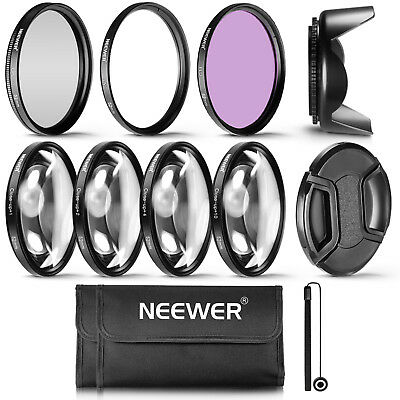 Neewer 52MM Professional UV CPL FLD Lens Filter and Close-Up Kit