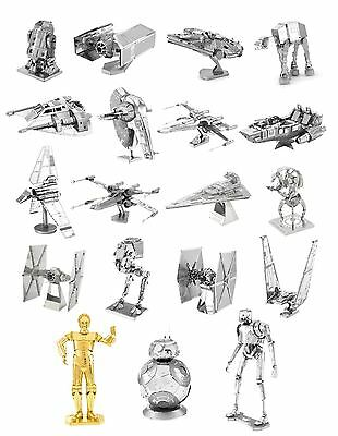 Star Wars Metal Earth 3D Models Laser Cut DIY Steel Miniatures 19 Designs NEW