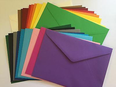 20 x C6 Coloured Envelopes 114x162mm 120GSM  100% Recycled- Choose a colour