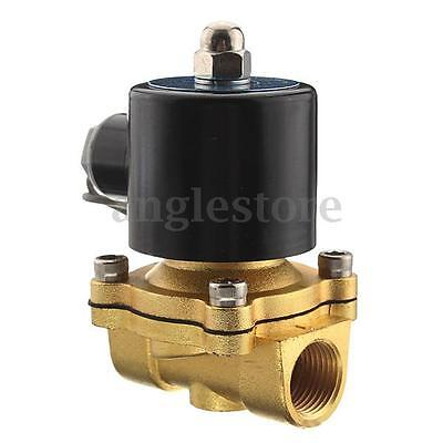 1/2'' NPT 12V DC Electric Brass Solenoid Water Air Fuel Valve Gas Diesel NEW