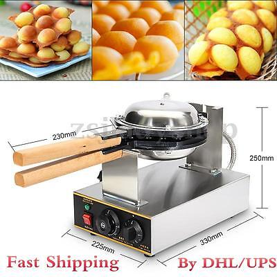 110V Stainless Steel Electric Egg Cake Oven QQ Egg Bread Waffle Maker Machine