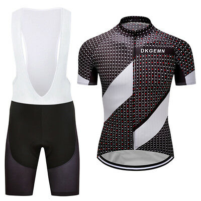 2016 Latest Mens Cycling Jersey Bib Shorts Sets Wear Race Short Sleeve Sweater