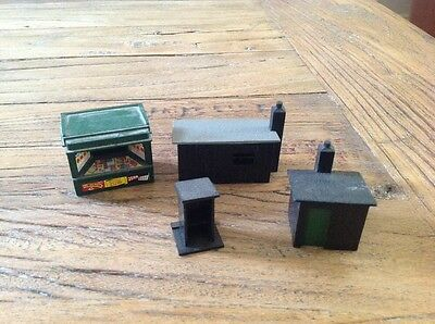 Vintage 4 Small Model Railway Buildings