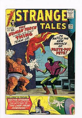 Strange Tales # 124 Torch / Thing vs Paste Pot Pete grade 3.5 scarce hot book !!