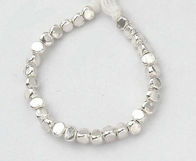 Karen Hill Tribe Silver 20 Faceted Beads 3.5x3mm.