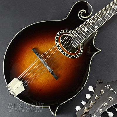 EASTMAN MD514 CS Oval Hole F-Style Bluegrass Mandoline, vollmassiv, Nitro-Lack