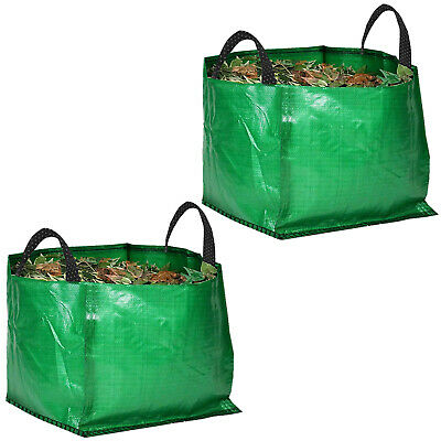 2 x Large Strong Reusable Garden Bag Waste Refuse Rubbish Grass Leaves Sack 120L
