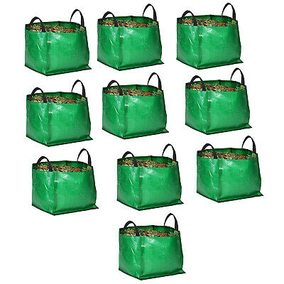 10 x Large Strong Reusable Garden Bag Waste Refuse Rubbish Grass Leaf Sack 120L