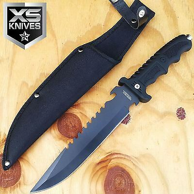 "13"" SURVIVAL FIXED BLADE Tactical FISHING Hunting Knife W/ Sheath Camping BOWIE"