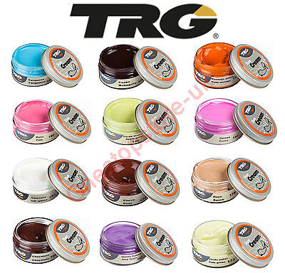 TRG Shoe Cream Polish 50ml Jars For Leather Shoes Boots Handbags Car Seat Sofa 2