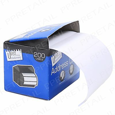 1000 X Self Adhesive Address Stickers ~BLANK LABELS~ Postage Roll Sticky White