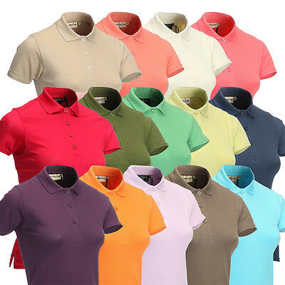 Glenmuir Ladies Shaped Golf Polo Shirt