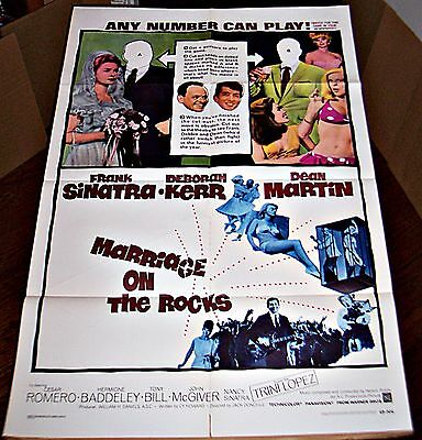 Marrige On The Rocks (1965) Frank Sinatra Original 27X41 1-Sheet Poster