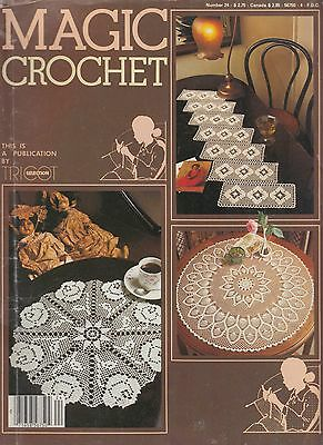 Magic Crochet #24 March 1983 - 24 patterns doilies tablecloth bedspreads more