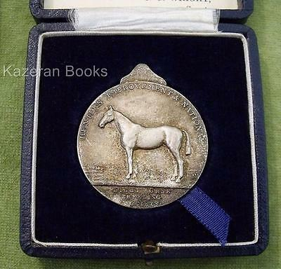 Vintage 1951 Light Horse Breeding Society Pictorial Medal & Box Cotswold Hunt