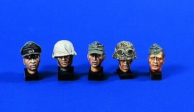 VERLINDEN PRODUCTIONS #0556 WWII German Heads in 1:16