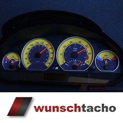 speedometer speedometer dial for BMW E46 yellow-Carbon 250 Kmh Petrol