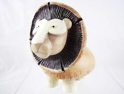 Mushroom Lion - Caps, Stems, Slice - Home Grown Resin Figurine - NIB